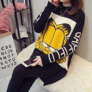 9885 # толстые теплые кофты для грудного вскармливания с рисунком кота, осенне-зимние рубашки для кормления беременных женщин, свободные топы ...