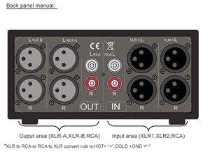 Image 5 - Сбалансированный стереоконвертер 3 в 3 OUT XLR/RCA, звуковой селектор, семейная коробка для домашнего усилителя