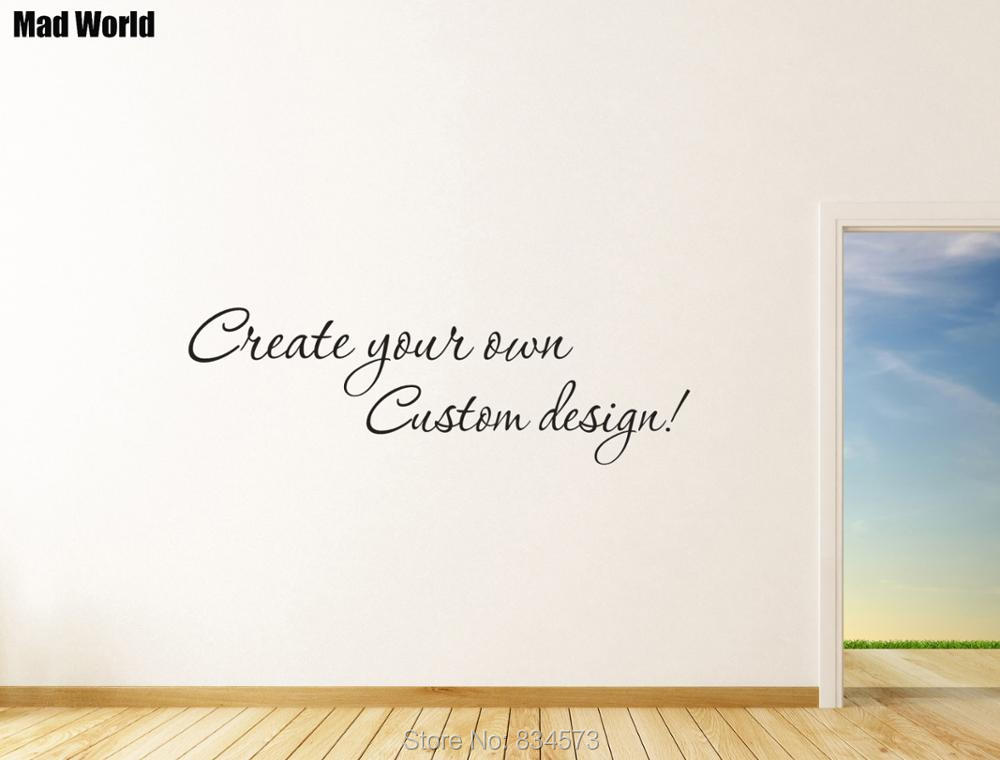 Custom Decal Design Create your own Custom Design Wall Art Sticker Wall Decals Home DIY Decoration Removable Decor Wall Stickers