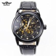 Победитель королевский алмаз дизайн золотой белый часы Montre Homme мужские часы лучший бренд класса люкс Relogio мужской скелет механические часы