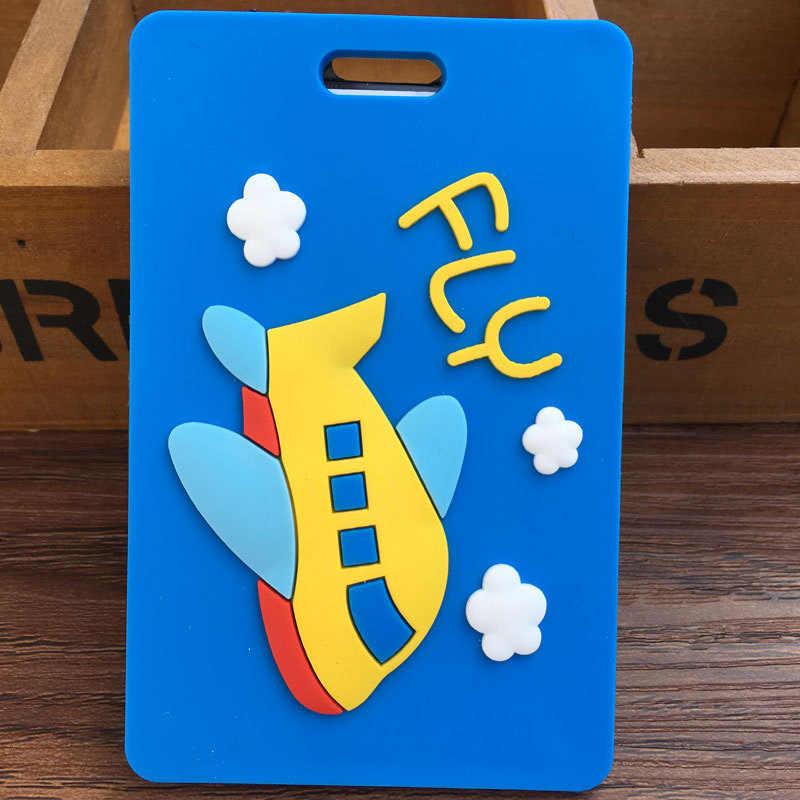 トラベルアクセサリークリエイティブ Pvc 荷物タグ特別な漫画スーツケース ID アドレスホルダー手荷物タグポータブルラベル