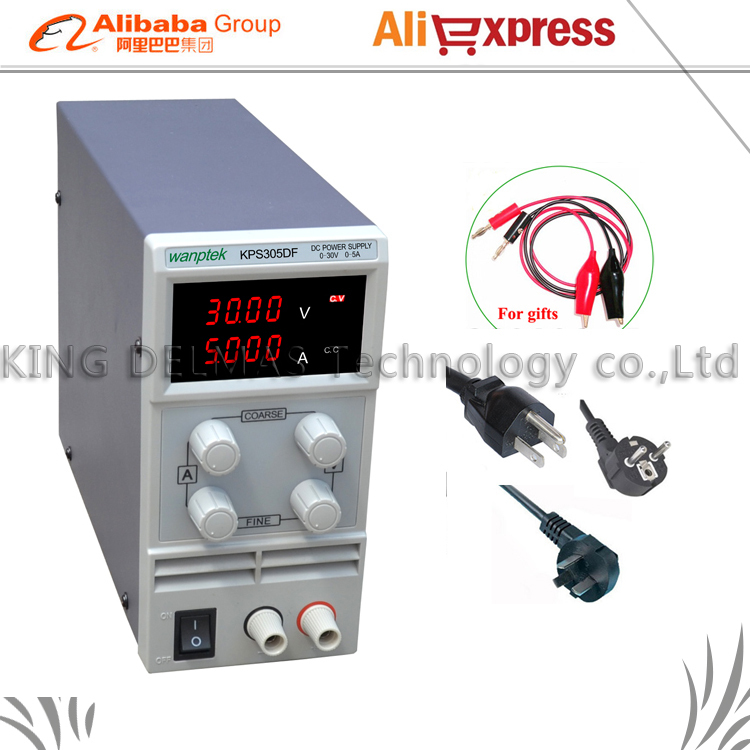 LED Digital Adjustable DC Power Supply ,0~30V 0~5A ,110V-220V, Switching Power supply 0.01V/0.001A mA display cps 6011 60v 11a digital adjustable dc power supply laboratory power supply cps6011