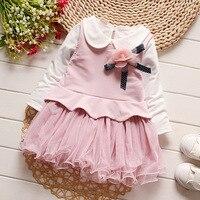Kids jurken meisjes jurk lange mouwen baby meisjes pluizige meisjes prinses peuter meisjes kleding