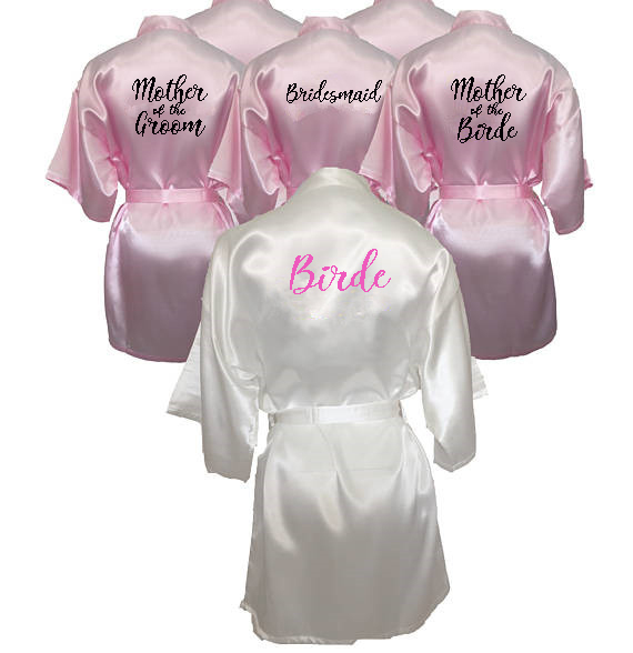 3ba4c17aac C Fung personalized printed Bridal Party Robes Bridesmaids mother of the bride  groom maid of honor Wedding Day gift satin robe