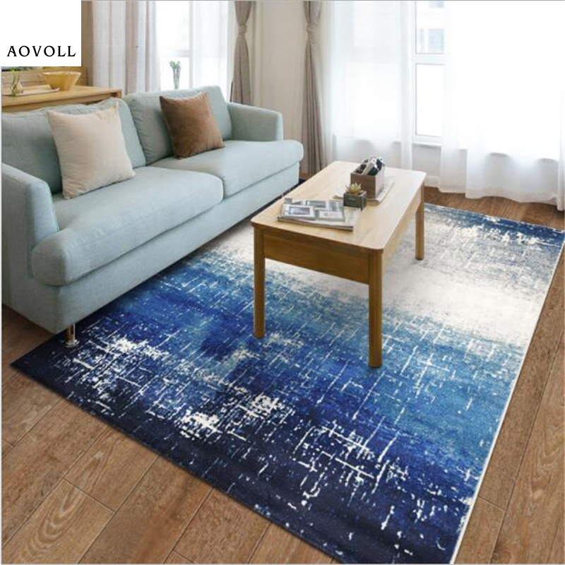 US $54.91 30% OFF|AOVOLL Blue Sea Delicate Thicker Carpets For Living Room  Bedroom Kid Room Rugs Home Carpet Floor Door Mat Simple Area Rug Mats-in ...