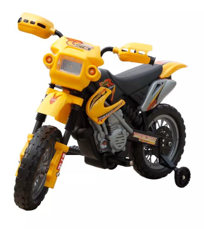 Moto éLectrique Pour Enfants Jaune monter sur les voitures Enfants Moto éLectrique Enfants apprentissage éducation Mini vélo cadeaux Pour Enfants
