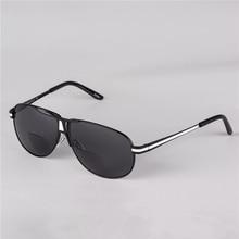 Bifocal Reading Glasses Unisex Diopter Glasses Alloy Frame Sunglasses Presbyopic Eyeglasses +1.0+1.5+2.0+2.5+3.0+3.5