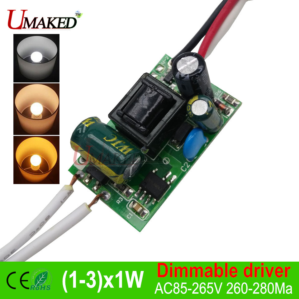 Buy 3w5w7w9w12w15w18w Led Dimmable Driver Ac85 Tri Color Circuit Controller 265v Transformerthree Lighting Mode Transformers Power Supply Diy From Reliable
