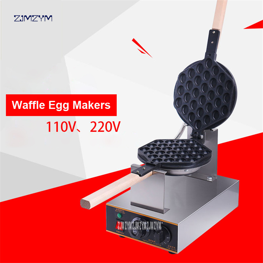 Commercial Electric Egg Bubble Waffle Maker Machine Hong Kong Eggettes Bubble Puff Cake Iron Maker Cake Oven FY-6 110V/220V non stick egg roll maker 110v 220v practical cake baker kitchen electric waffle maker machine with good quality fy 6