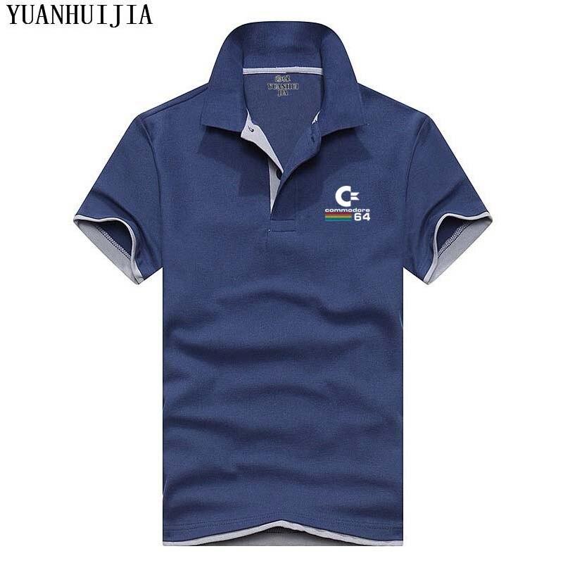 2018 Новый Мужские поло Для мужчин Мужские Поло рубашка Commodore c-64 брендовая одежда мужской моды Повседневное Футболки-поло для мужчин Для мужч...
