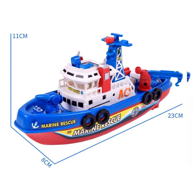 Bambini giocattolo elettrico fuoco barca musica barca elettrica fiamma ossidrica - 2