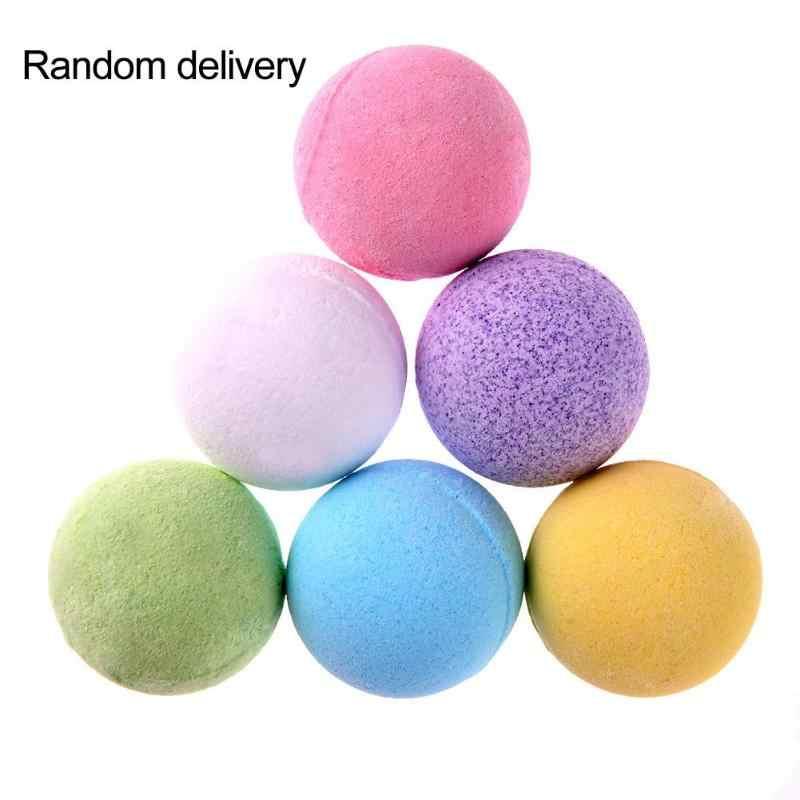 1 шт. органическая соль для ванной тела эфирное масло для ванной мяч натуральный пузырь для ванной бомбы шар роза/зеленый чай/Лаванда/лимон/молоко случайный