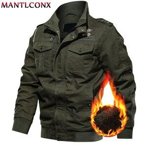 Image 2 - MANTLCONX 6XL kurtka wojskowa mężczyźni zima dorywczo gruby płaszcz termiczny armia kurtki pilotki Air Force kurtka Cargo wiatrówka Pakas