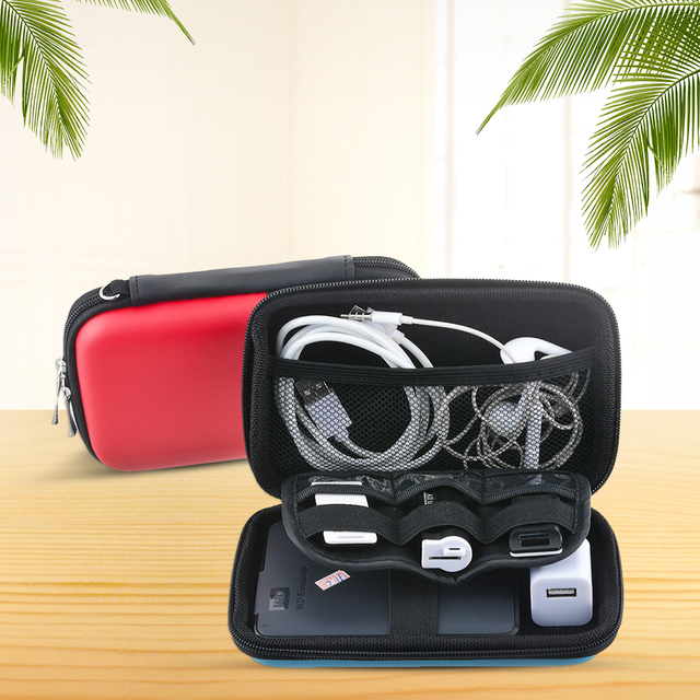 Mini Square Organizer Box for Storaging Cables, Coin, Headphone