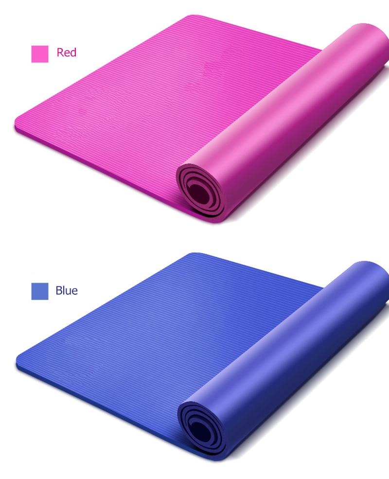 10MM Yoga Mat NBR Fitness Mat Thick Non-slip Sport Yoga Gym Mat Esterilla Pilates Tapete Yoga Mat with Strap 17