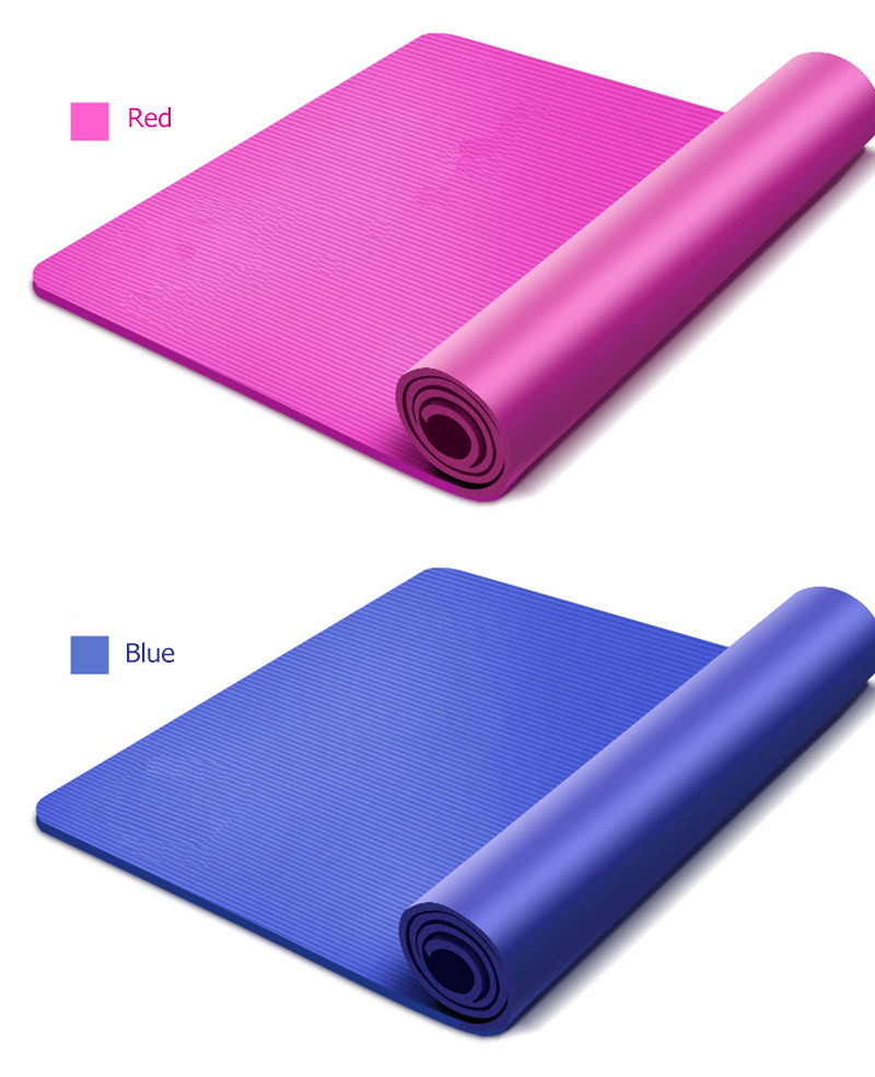 10MM Yoga Mat NBR Fitness Mat Thick Non-slip Sport Yoga Gym Mat Esterilla Pilates Tapete Yoga Mat with Strap 17
