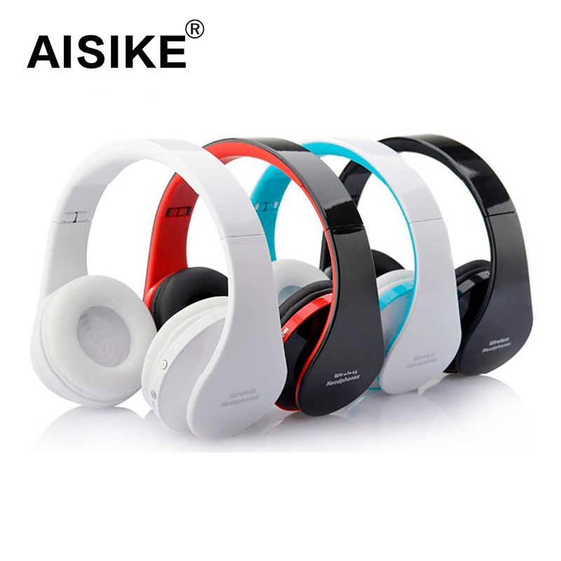 AISIKE 8252 Fidelity Surround Sound Headphones Wireless Stereo Headsets Bluetooth3.0+EDR Headphone Headset With Mic big Earmuff