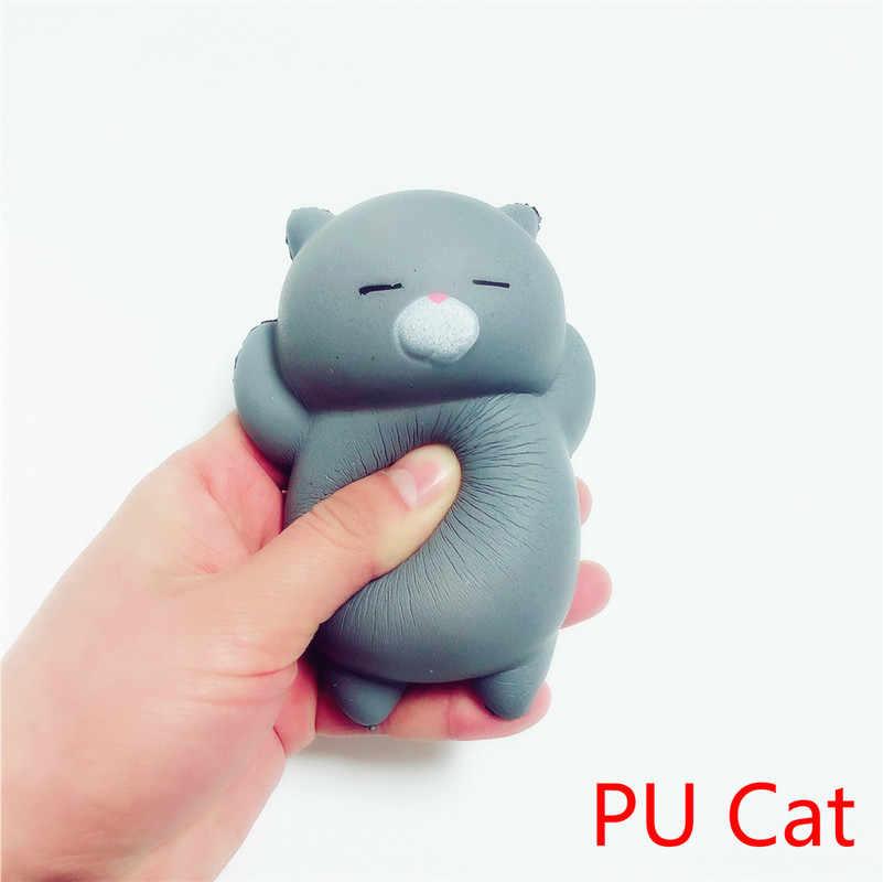 1 pc Mini Brinquedos do Aperto Bola Antistress Estresse Mole Gato Boneca Animal Stretchy Cura Lenta Subindo Mão Fidget Brinquedo Ventilação do Presente Do divertimento