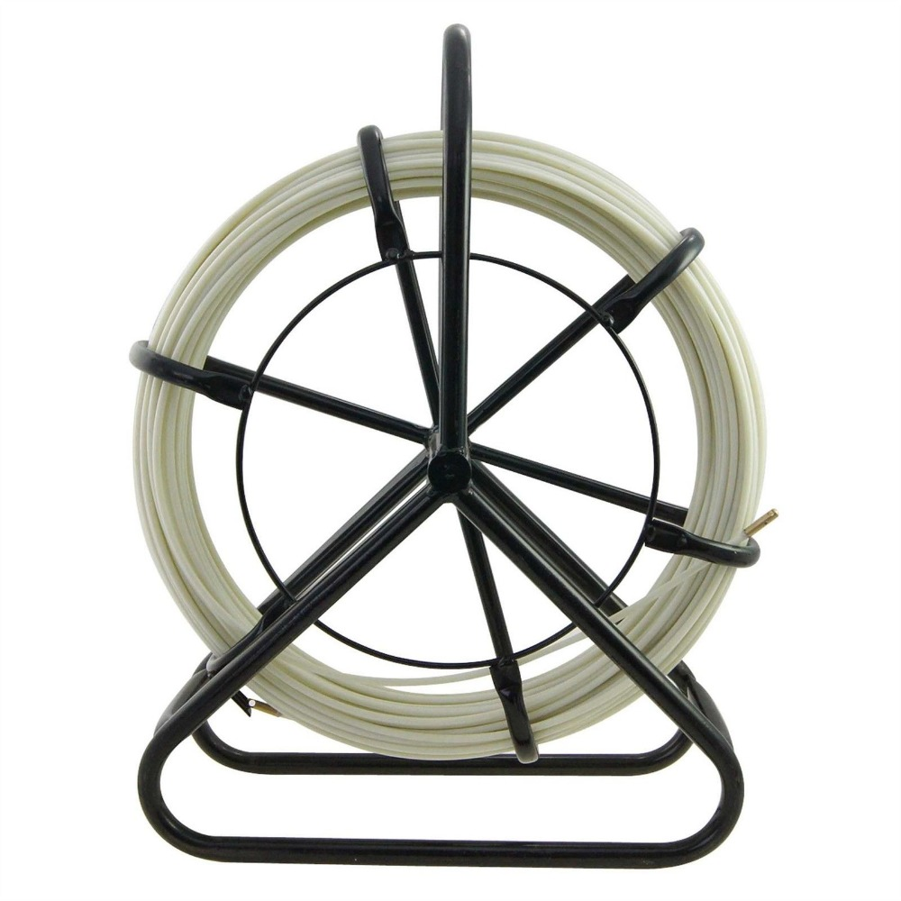 6*100M Electric Reel Wire Cable Running Rod Duct Rodder Fishtape Puller used for Telecom, Wall and Floor Conduit cable access kits 60cm rods with hook rings led light magnet chain cable puller push pull rod sanke rod wire puller
