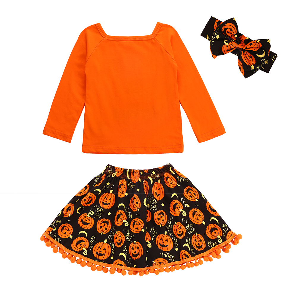 96d2c4538f47 SOSOCOER Halloween Baby Girl Clothes Children Clothing Set Toddler ...