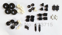Free Shipping Wheels Rims Pack DIY Enlighten Block Bricks Compatible With Lego Assembles Particles