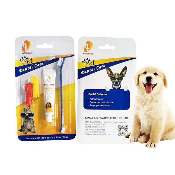 Pet Products Pet Toothpaste Set Pet Toothbrush Dog Oral Care Cats and Dogs Toothbrush Toothpaste Set image