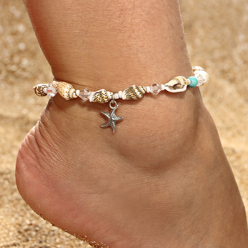 Bohemia Starfish Shell Anklets For Women Beach Anklet Leg Bracelet Handmade Foot Chain Boho Jewelry Gifts Accessories Wholesale 1