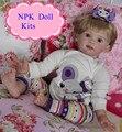 Enducational 24 polegadas 60 cm Qualidade Exportação Silicone Renascer Boneca Lifelike Renascer Baby Doll Kits Para Feito Estilo de Moda Como boneca Brinquedos