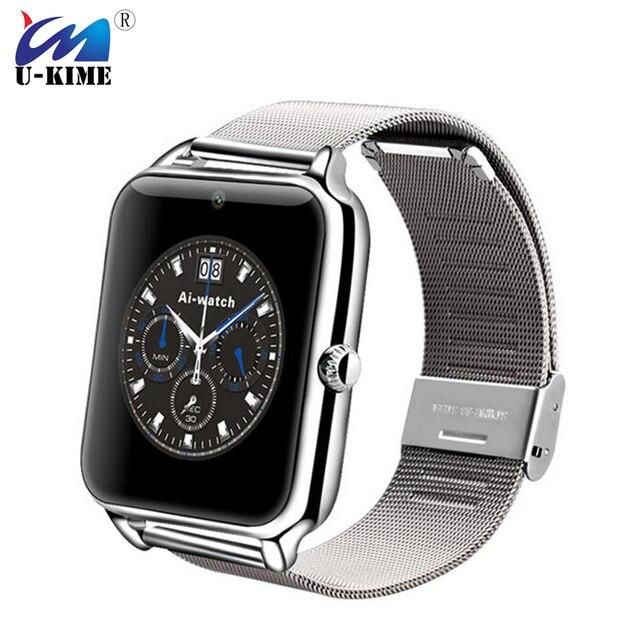 605ac851d764 Nueva correa de Metal reloj inteligente Z50 2G Internet soporte tarjeta SIM  TF Wearable dispositivos SmartWatch