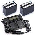 2 pc 7.4 v 7000 mah np-f960 np-f970 np f970 f960 baterias recarregáveis lcd + dual carregador para sony hvr-hd1000 hvr-hd1000e hvr-v1j