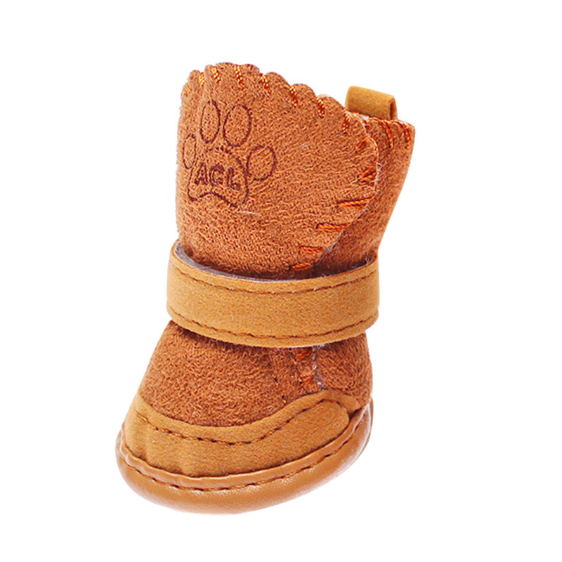 חתול כלב חתול חורף שלג מגפיים כותנה תערובת גומי חם יותר גור נעלי מגפיים