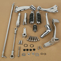Forward Controls Kit Pegs Levers Linkage For Harley Sportster 883 1200 Chrome