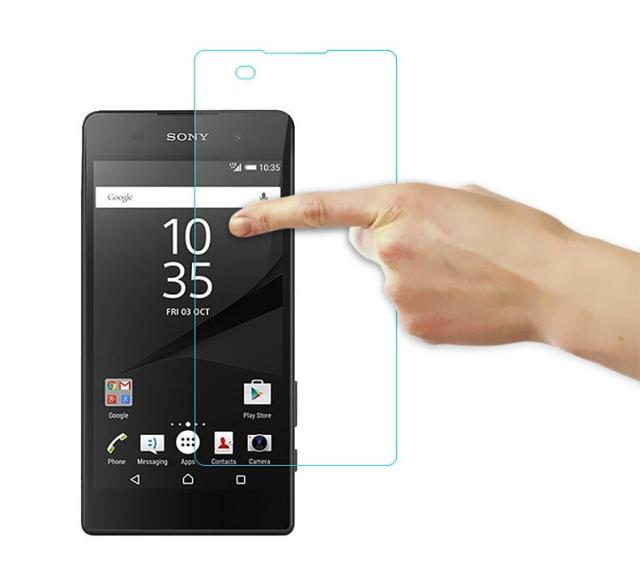 sony e5. hp01 for sony xperia e5 tempered glass screen protector 0.26mm 2.5 9h safety protective film