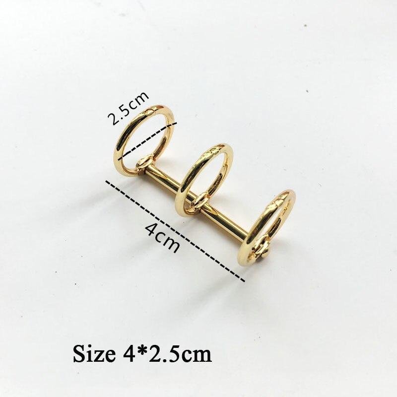 Купить с кэшбэком 2Pcs/Lot A5 A6 A7 Metal Loose Leaf Book Binder Hinged Rings Keychain Album Scrapbook Clips Craft Photo Album Metal Ring Binder