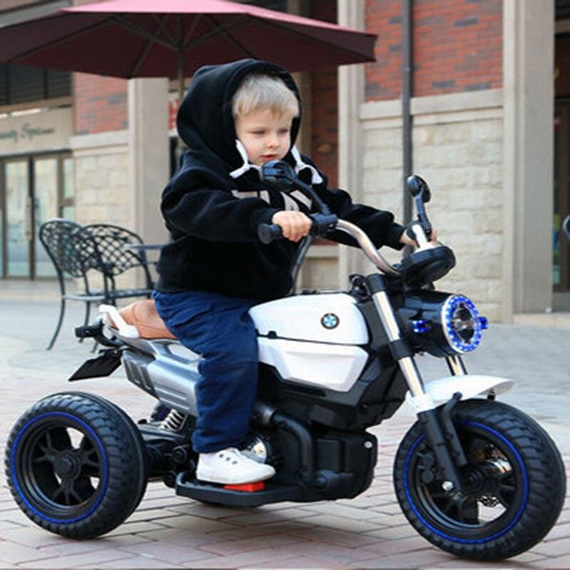Niños motocicleta eléctrica delantera y trasera moda diseño confort Doble amortiguador diseño...