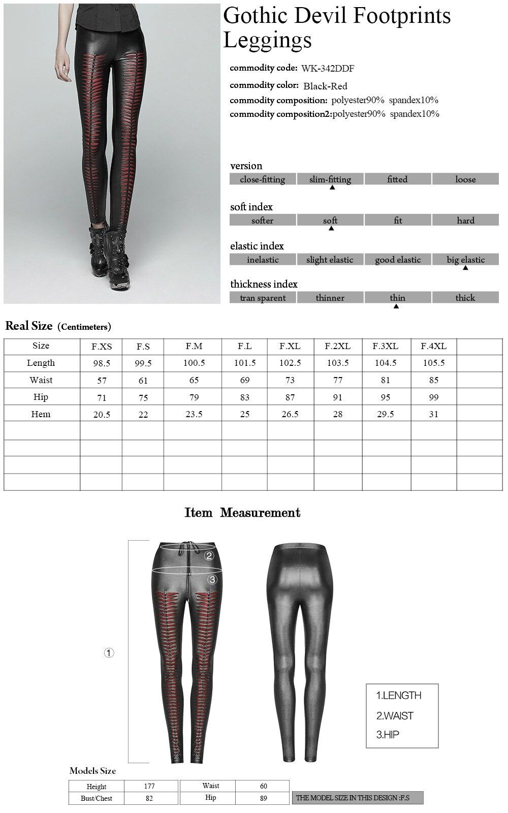 Новые Панк рейв модные черные выдалбливают Готический эластичный облегающие Женские пикантные легинсы, брюки WK342BK - 6