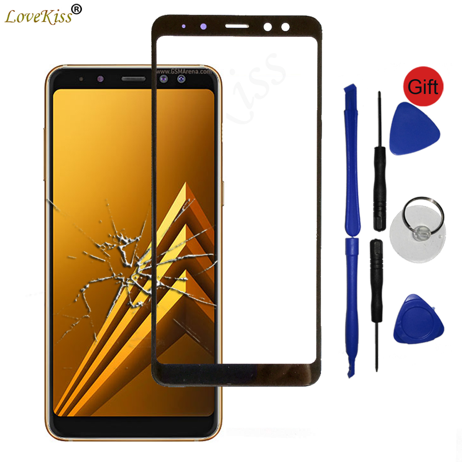 Front Panel For Samsung Galaxy J6 J4 Plus 2018 J610 A6Plus A8Plus A6 A8 A7 Touch Screen Sensor LCD Display Digitizer Glass Cover