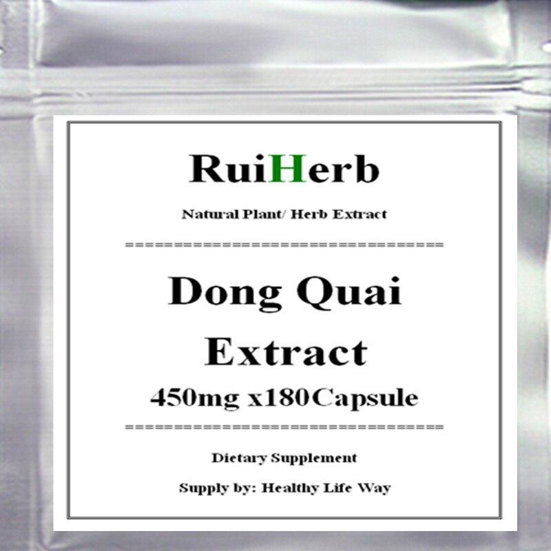 1Pack Dong Quai Extract 500mg x 180Capsule free shipping dong quai 530 mg traditional herb for women 100 capsules free shipping
