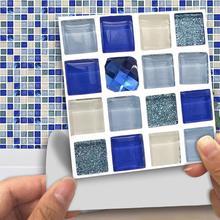 18pcs/pack Marble Matte Mosaic PVC Stickers 10*10cm Waterproof Self Adhesive Wall Sticker Bathroom Kitchen DIY Tile
