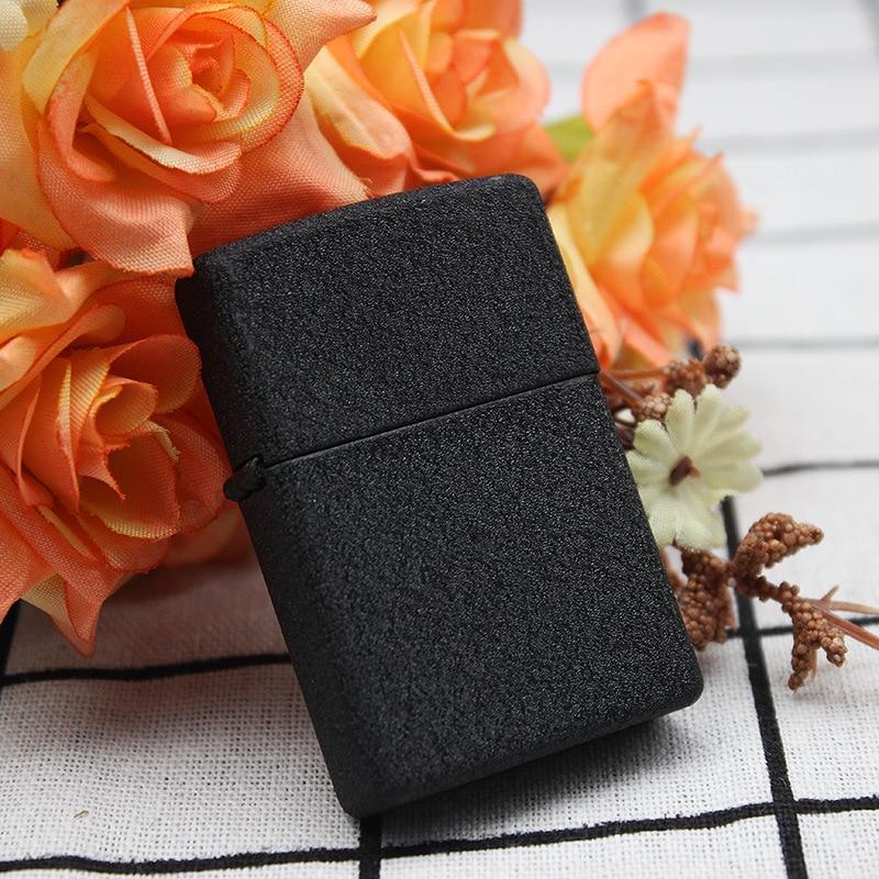 Hot Sell Gasoline Lighter Metal Kerosene Oil Lighter Refillable Frosted Matte Black in Matches from Home Garden