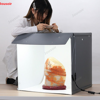 New SANOTO 56cm Photo Studio Box Photography Backdrop portable Softbox LED Light Photo Box fold Photo Studio Soft Box CD05 T03