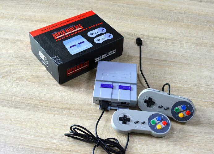 16 bit sistema de Entretenimento super mini clássico wiredcontroller TV vídeo game console portátil construído em 100 jogo real de saída AV