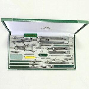 Image 1 - Autentyczne Hero 23 sztuk/partia H4023 mechaniczny rysunek instrument inżynierii rysunek metalowe kompasy zestaw