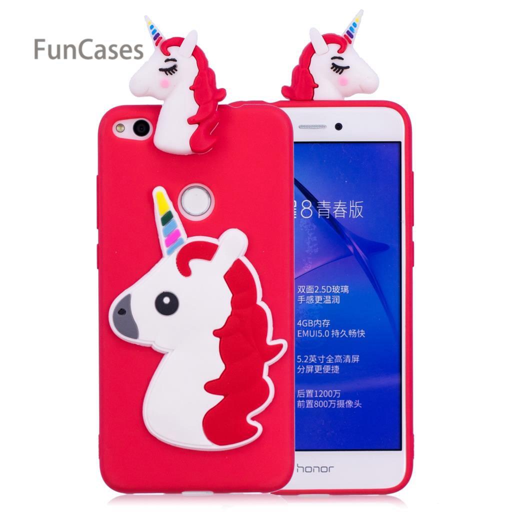 Colorful Unicorn Phone Case sFor Coque Huawei P8 Lite 2017 Soft Silicone Phone Case Back Phone Case Huawei Ascend P9 Lite 2017