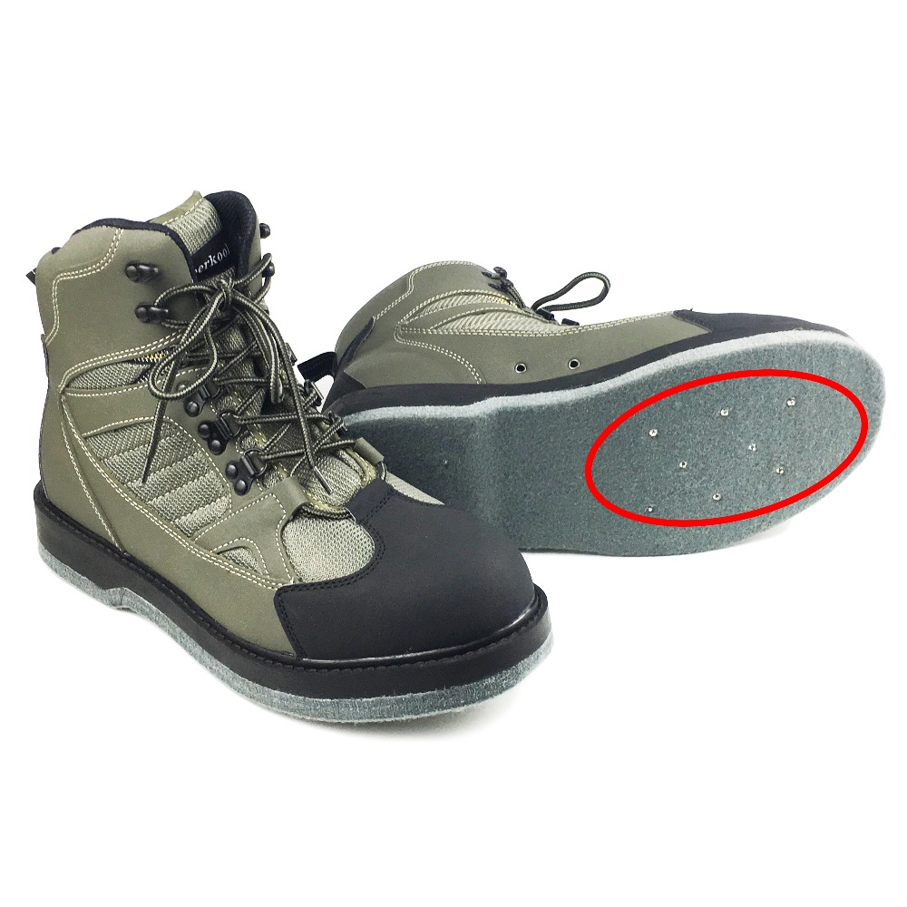 Fly Fishing Wading Shoes Nails Felt Sole Waders Aqua Upstream Hunting Sneakers Boot Breathable Rock Sport