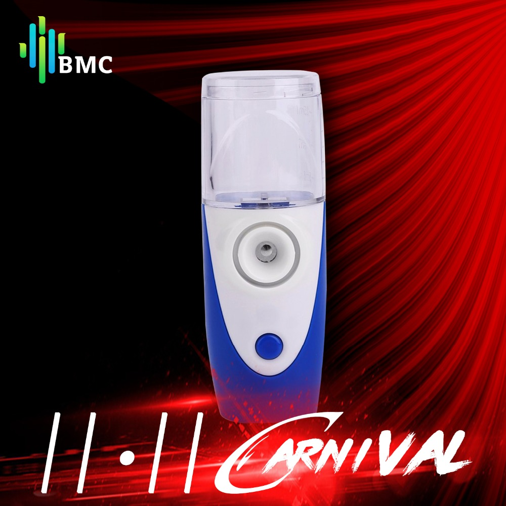BMC Compact Handheld Ultrasonic Nebulizer Mesh Nebuliser Face Steaming Device Rechargeable Humidifier Atomizer Children Adult