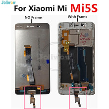 With Fingerprints For Xiaomi 5s MI 5S MI5S LCD display + Touch Panel Replac Digitizer Assembly Repair Parts xiaomi MI5s