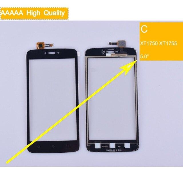XT1750 XT1756 màn hình cảm ứng Cho Motorola Moto C XT1750 XT1755 Màn Hình Cảm Ứng Cảm Biến Digitizer Glass Lens Bảng Điều Khiển Phía Trước XT1754