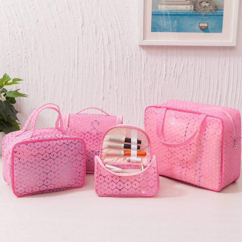 SIKOTE Lace Portable Travel Cosmetic Bag Wash Bag New Waterproof Storage Bag Finishing Bag Cosmetic Case spark storage bag portable carrying case storage box for spark drone accessories can put remote control battery and other parts