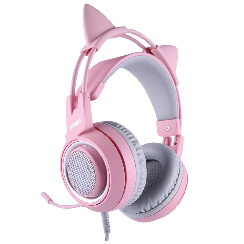Full Directional Cat Ear Noise Canceling Virtual Channel Cute Gaming Headset Lightweight Ergonomic LED Indicator USB Plug GiftFull Directional Cat Ear Noise Canceling Virtual Channel Cute Gaming Headset Lightweight Ergonomic LED Indicator USB Plug Gift